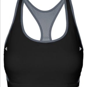 NWT CHAMPION black gray Great Divide sports bra